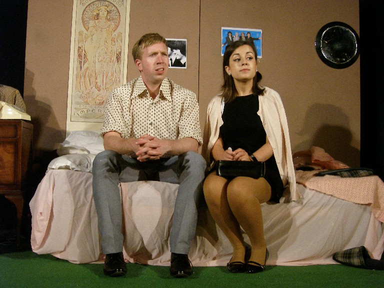 "Stephen Martin-Bradley and Molly Waters in ""Relatively Speaking"""